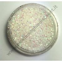 Glitter nail art BIANCO