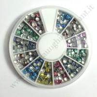 Rondella Nail Art Borchiette Tonde Colorate