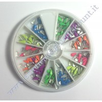 Rondella Nail Art Borchiette a Goccia Colorate