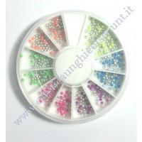 Rondella Nail Art Borchiette Piccole Rotonde Colorate