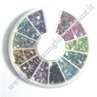 Rondella Nail Art Brillantini Tondi colorati