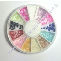 Rondella Nail Art Mezze Perle Colorate