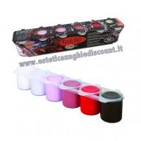 Kit 6 colori Acrilici INVERNO Oksana Bilous Micropittura - Nail Art