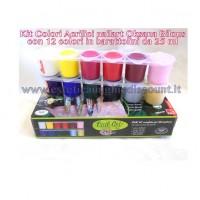 Kit 12 colori Acrilici Oksana Bilous per Micropittura - Nail Art
