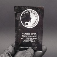 BUSTINA DA 10 ML THE BLACK MASK MASCHERA VISO AL CARBONE VEGETALE ATTIVO