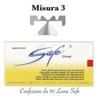 Lame SAFE LA114S sterilizzate n°3 Confezione da 50 pezzi