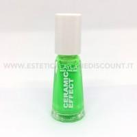 Layla nail polish Smalto Ceramic Effect CE108 Verde Fluo