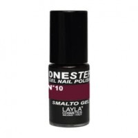 Layla One Step Gel Nail Polish smalto semipermanente -  10 RED IN BROWN