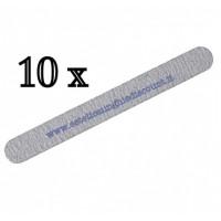 10 Lime Dritte per Unghie Grana 100/180 grigie