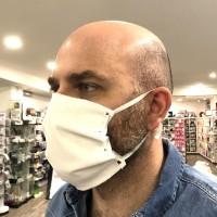 Mascherina Filtrante Riutilizzabile in strato triplo di Cotone 100% con Trattamento Antibatterico