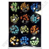 SET decorazioni nail art Gocce Coloratissime