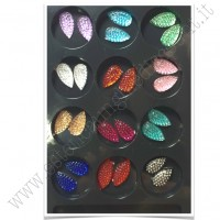 SET decorazioni nail art Gocce Brillantinate
