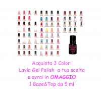 3 Layla Gel Polish Color + OMAGGIO 1 Base&Top