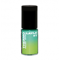 Layla Smalto Nail Polish Thermo Effect - 02 DARK TO LIGHT GREEN