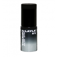 Layla Smalto Nail Polish Thermo Effect - 08 BLACK TO GREY