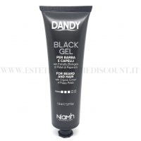 BLACK GEL DANDY NIAMH PER BARBA E CAPELLI CON ESTRATTO PETALI DI PAPAVERO 150 ML