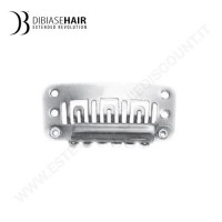 Clips fermacapelli per extension capelli veri a fascia SILVER