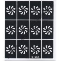 STENCIL NAIL ART K051