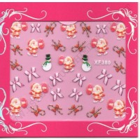 Stickers Nail Art NATALE FIOCCHI E REGALI XF380.