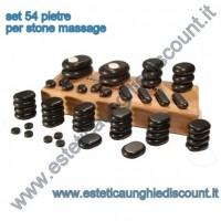Set 54 pietre basaltiche per Stone Massage