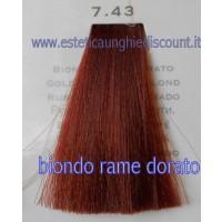 Tinta Capelli Professionale CorIng ING agli acidi di frutta da 100 ml - 7.43 BIONDO RAME DORATO