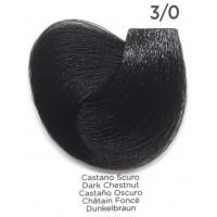 Tinta Colorante Professionale per capelli con ammoniaca Inebrya Castano Scuro 3.0