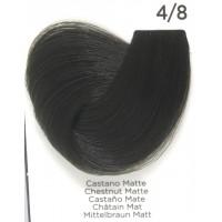 Tinta Colorante Professionale per capelli con ammoniaca Inebrya Castano Matte 4.8