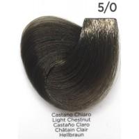 Tinta Colorante Professionale per capelli con ammoniaca Inebrya Castano Chiaro 5.0