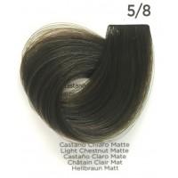 Tinta Colorante Professionale per capelli con ammoniaca Inebrya Castano Chiaro Matte 5.8