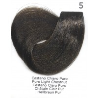 Tinta Colorante Professionale per capelli con ammoniaca Inebrya Castano Chiaro Puro 5