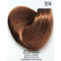 Tinta Colorante Professionale per capelli con ammoniaca Inebrya Biondo Rame 7.4