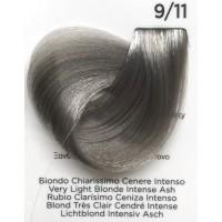 Tinta Colorante Professionale per capelli con ammoniaca Inebrya Biondo Chiarissimo Cenere Intenso 9.11
