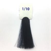 Crema Colorante INEBRYA Bionic Color senza ammoniaca Professionale Permanente 1.10 Nero Blu