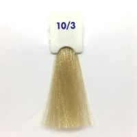 Crema Colorante INEBRYA Bionic Color senza ammoniaca Professionale Permanente 10.3 Biondo Platino Dorato