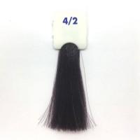Crema Colorante INEBRYA Bionic Color senza ammoniaca Professionale Permanente 4.2 Castano Viola