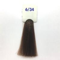 Crema Colorante INEBRYA Bionic Color senza ammoniaca Professionale Permanente 6.34 Biondo Scuro Dorato Rame