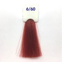 Crema Colorante INEBRYA Bionic Color senza ammoniaca Professionale Permanente 6.60 Biondo Scuro Rosso Caldo