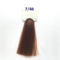 Crema Colorante INEBRYA Bionic Color senza ammoniaca Professionale Permanente 7.46 Biondo Rame Rosso
